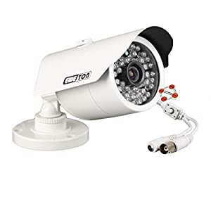 EWETON 1080P Hybrid Bullet Security Camera, 2.0 Megapixel HD 4-in-1 TVI/CVI/AHD/CVBS Waterproof Outdoor Surveillance…