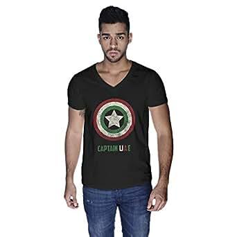 Creo Captain Uae T-Shirt For Men - S, Black