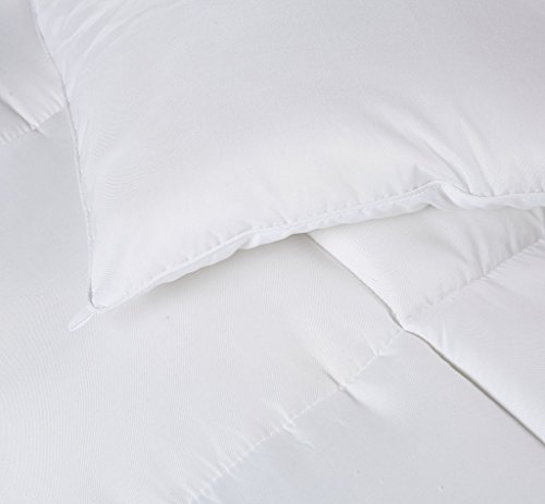 Utopia Bedding Queen Comforter Duvet Insert White Quilted Comforter by wil of  Corner Tabs Hypoallergenic Plush Siliconized Fiberfill Box Stitched off decision Comforter by