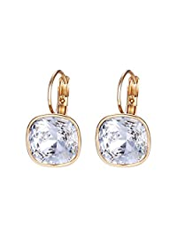Xuping Boxing Day Luxury Hoop Crystals from Swarovski Earrings Fashion Jewelry Gifts