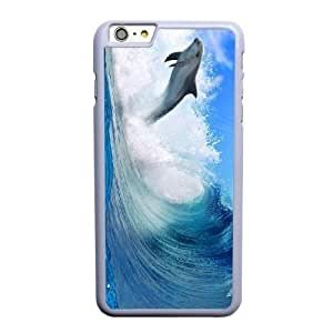 Generic Fashion Hard Back Case Cover Fit for iPhone 6 6S 4.7 inch Cell Phone Case white Zootopia Dolphins with Free Tempered Glass Screen Protector STR-3313030
