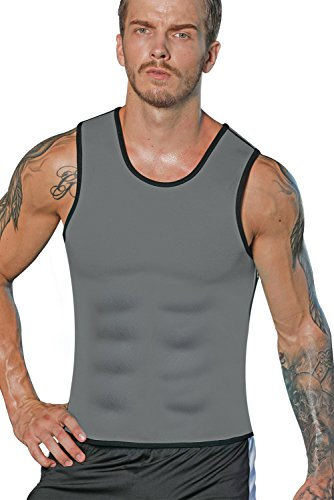 Burn Calories (NonEcho Mens Sauna Vest Suit 10mm Neoprene Sweat Crazy, Water Weight Loss, Burn More Fat&Produce Heat)