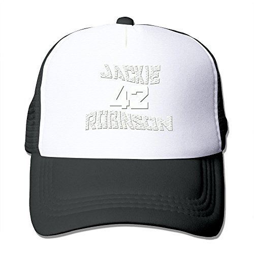 Price comparison product image Black HGLENice Jackie Robinson 42 Unisex Adjustable Baseball Caps One Size
