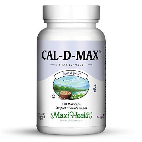 Maxi Health Cal-D-Max - Calcium Citrate - with Vitamin D3 - Bone Support - 120 Capsules - Kosher