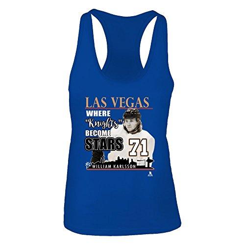 Las Vegas Golden Knights Store - William Karlss. - Next Level Women's Premium Racerback Tank - Officially Licensed Fashion Sports Apparel