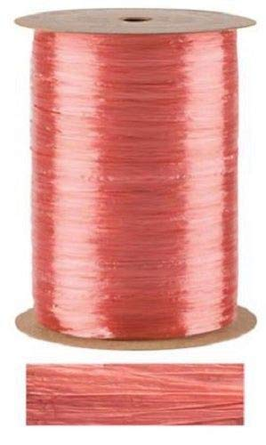 Coral Pearlized Raffia Ribbon Gift Wrap Wedding 1/2'' Wide 500 Yards Bow by retail-warehouse