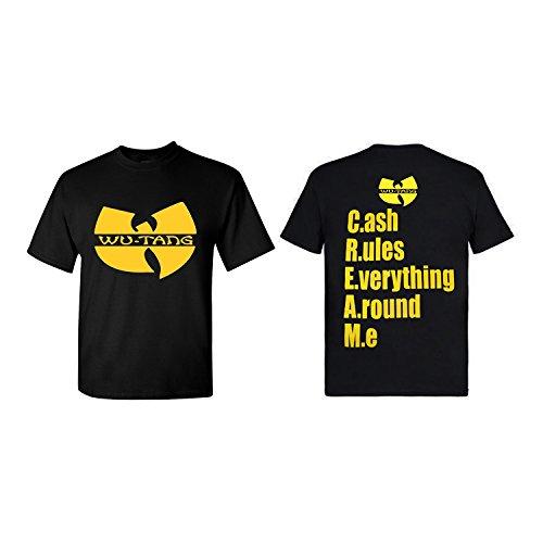 Hip Hop Legends WU-Tang Cream Logo Unisex Classic Black T-Shirt - - Hop Legend Hip