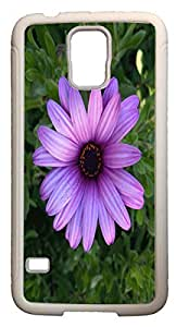 Galaxy S5 Case Cases Customized Gifts Cover purple Leaves Flowers - Ideal Gift