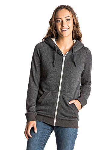 Roxy Women's Beauty Stardust Sherpa Hoodie, True Black, Large 41mlU3RaD 2BL