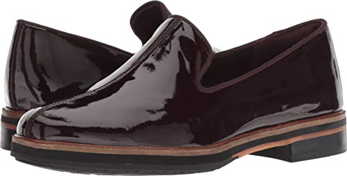 CLARKS Womens Frida Loafer Aubergine Patent Leather