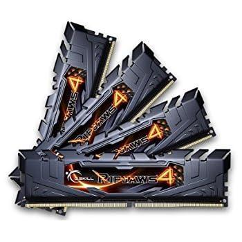 G.SKILL Ripjaws 4 series 32GB (4 x 8GB) 288-Pin DDR4 SDRAM 2400 (PC4-19200) Desktop Memory Model F4-2400C15Q-32GRK