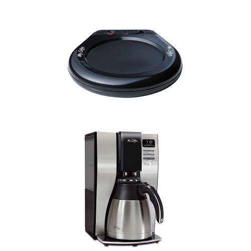 Mr. Coffee MWBLK Mug Warmer and BVMC-PSTX91 Optimal Brew 10-Cup Thermal Coffeemaker Bundle by Mr. Coffee