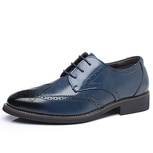 - Men Leather Oxford Dress Shoes Formal Wedding Shoes(Blue Lable 38/5.5 D(M) US Men)