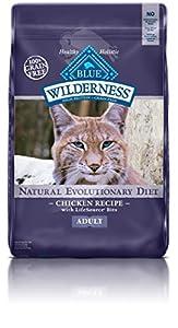 Blue Buffalo Cat 100-Percent Grain Free Chicken Formula Dry Cat Food, 12 lb Bag
