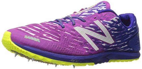 New Balance Women's 900v3 Track Spike Running Shoe, Pink/Purple, 10 B US