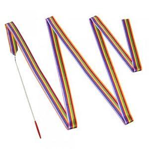 Gymnastikband - 4m Satinseidenband - inkl. Schwungstab