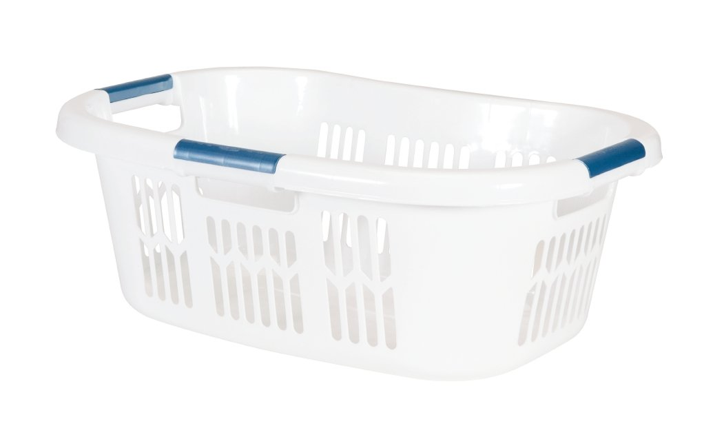 Rubbermaid Hip Hugger Laundry Basket, Standard, White, 1.86 cu ft