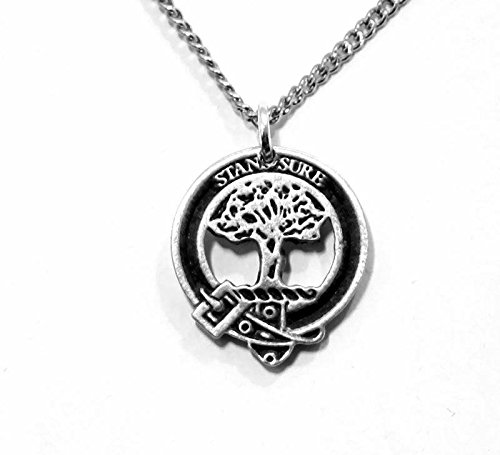 Scottish Clan Anderson Pewter Charm with Chain (Gift Boxed)