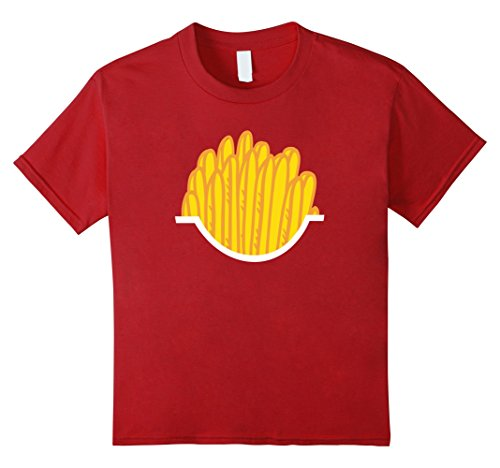 Kids French Fries - Easy Halloween Costume - Halloween Shirt 10 Cranberry (French Fries Child Costume)