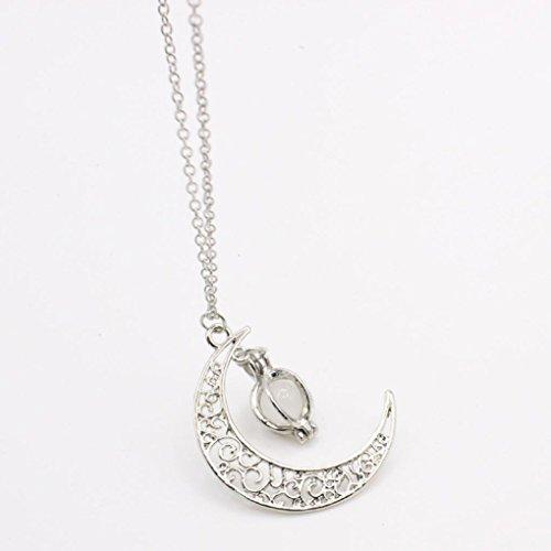 lusso offerte Fittingran collana regalo catena donne Natale Moon di collana gioielli Giallo ciondoli Liquidazione di Shape compleanno p01wqqT