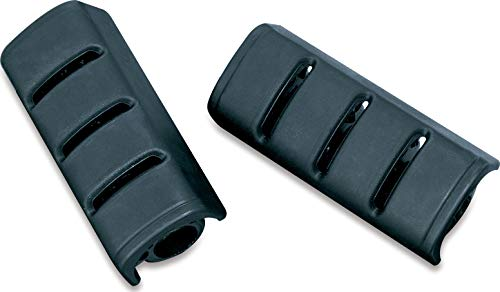 Kuryakyn 4345 Motorcycle Footpeg Components: Replacement Rubber Pads for Small ISO and Trident Pegs, Black, 1 Pair