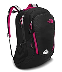 The North Face Women's Vault Backpack - Tnf Black Embosspetticoat Pink - One Size (Past Season)