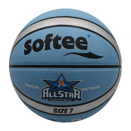 Balon Baloncesto Cuero Softee All Star - Talla 7 - Color Azul Y Gris ...