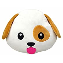 Dog Puppy Emoji Pillow Smiley Emoticon Cushion Stuffed Colorful Plush Toy 32cm New