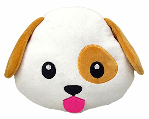 New Emojis New Smiley Emoticon Cushion Pillow Stuffed Plush Toy Doll Poop Emoji Face Bed Pillow Home Living Room Decoration Pillows USA SELLER (13X13X2 Inch, Dog Puppy) ()