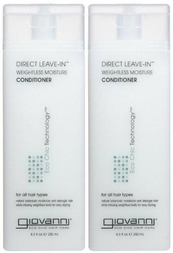 - Giovanni Direct Leave In Treatment Conditioner, 8.5 oz, 2 pk