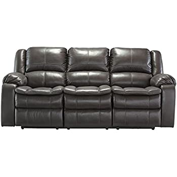 Ashley Furniture Signature Design - Long Knight Recliner Sofa - Power Reclining Motion - Gray  sc 1 st  Amazon.com : ashley furniture power recliner - islam-shia.org