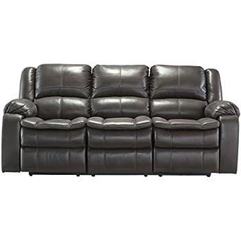 Ashley Furniture Signature Design   Long Knight Recliner Sofa   Power  Reclining Motion   Gray