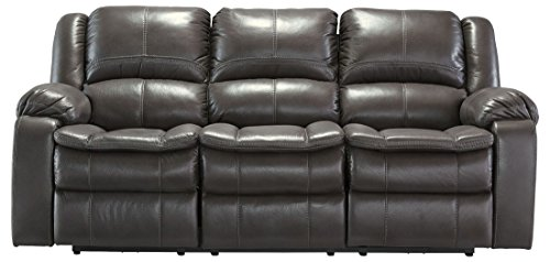 Ashley Furniture Signature Design - Long Knight Recliner Sofa - Manual Reclining - Gray by Signature Design by Ashley