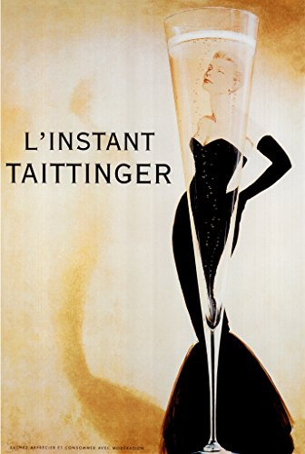 - LInstant Taittinger Grace Kelly Vintage Advertisement Poster 12x18 inch