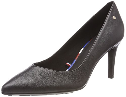 Metallic Leather Hilfiger Tommy Femme 990 Noir Pump Escarpins black 5qvEwW1Ec