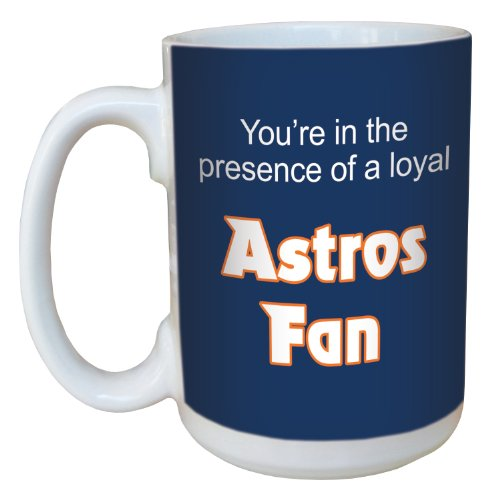 (Tree-Free Greetings lm44088 Astros Baseball Fan Ceramic Mug with Full-Sized Handle, 15-Ounce)