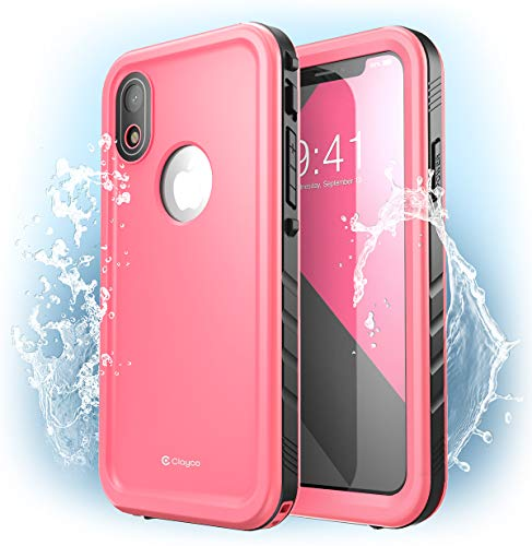 Clayco iPhone XR ケース 完全防水 アイフォンXR 両面ケース 360度フルカバー for Apple iPhone XR 2018