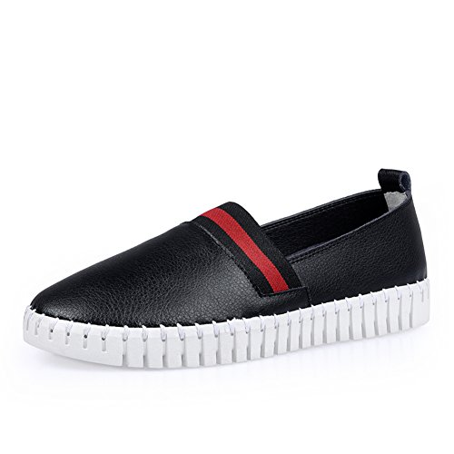 Le Fu zapatos de las mujeres/escoge los zapatos/los zapatos ocasionales planos coreanos/ligeros y suaves único zapatos cómodos/guisantes zapatos de conducción A