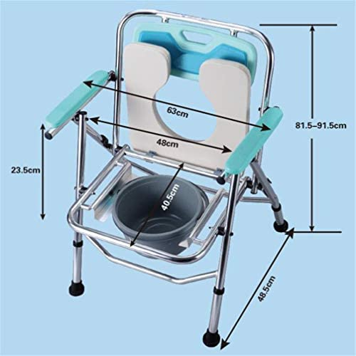 Bbhhyy Toilettenstuhl Ältere WC-Sitz Schwangere Frauen Mobiltoilette Startseite Toilette Bad Stuhl Faltbare WC