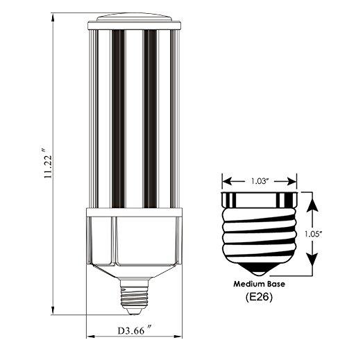 Dephen 60w Led Corn Light 8100lumen 250w Metal Halide Hps