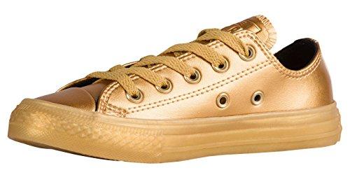 Converse Jungen Boy Sneaker Gr. 38 (US5.5) Chuck Taylor *** All Star OX Gold/Black/Gold *** 653107C Canvas