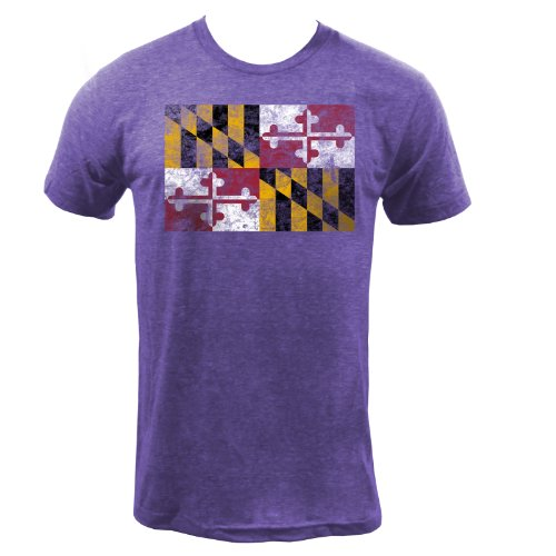 Tri Orchid (UGP Campus Apparel Maryland State Flag Tri-Blend - X-Large - Tri-Orchid)