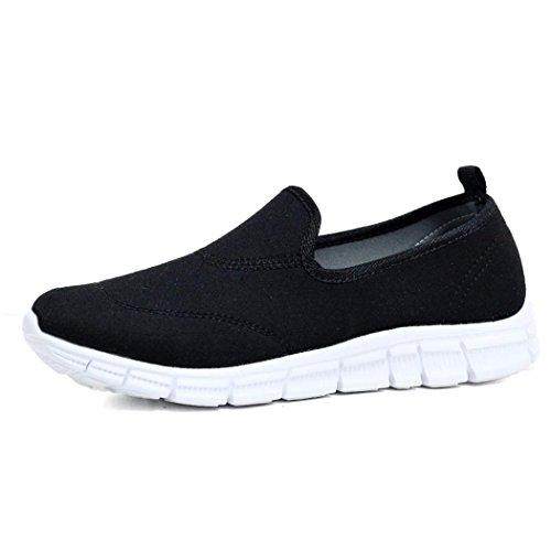 Ladies Flexi Surf Comfort Plimsoll Casual Walk Pumps Sports Trainer Holiday Go Shoes Size 4-8 Black. r2AGmUmK
