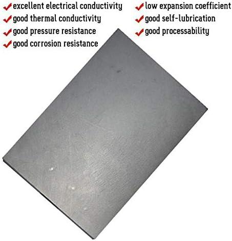 GOONSDS 99.9/% High Purity Carbon Graphite Blocks 50Mmx20mmx3mm 20Pcs