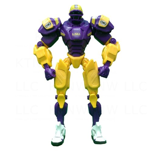 Officially Licensed NCAA Team Cleatus 10 Inch Action Figure - Louisiana State Tigers (Team Cleatus Fox)