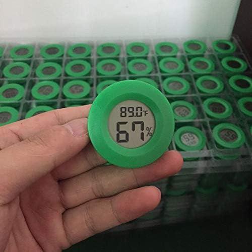 TOOGOO Higr/ómetro Term/ómetro Monitor Lcd Digital Medidor de Humedad Redondo Calibre Para Interior Invernadero S/ótano Herramienta Al Aire Libre Cuarto Del Beb/é