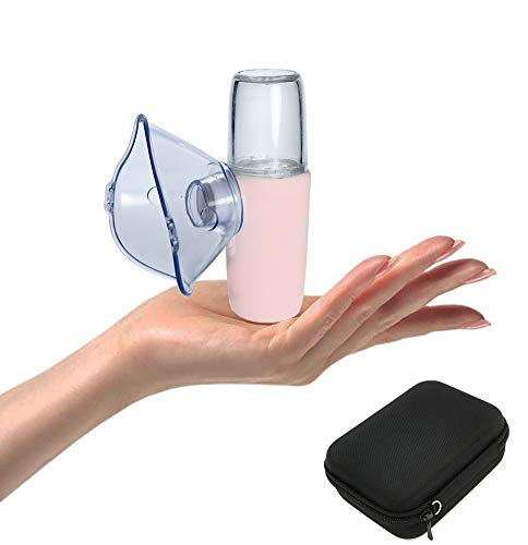 ShareMoon Portable Travel Vaporizer Machine with Carrying Case for Kids and Adults, Portable Steam Handheld Inhaler (White-Pink)