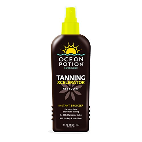 Ocean Potion Tanning Xcelerator Spray Gel, Instant Bronzer, Indoor Salon and Outdoor, 8.5 Ounces each, Pack of 2 For Sale