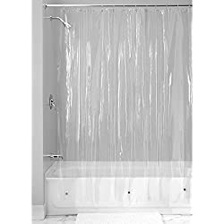 InterDesign Vinyl 4.8 Gauge Shower Liner, Stall 54 x 78, Clear (14561)