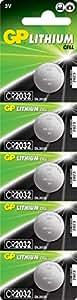 Gp Batteries Cr2032 2032 Boy Lityum Düğme Pil, 3 Volt, 5'Li Kart